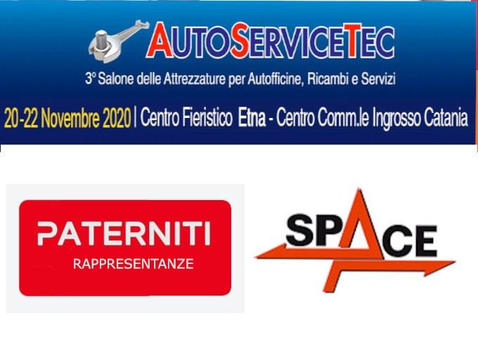 AUTOSERVICETEC Catania Auto SPACE ATTREZZATURE OFFICINA REVISIONI PONTI ASSETTO 3D EQUILIBRATRICI SMONTAGOMME